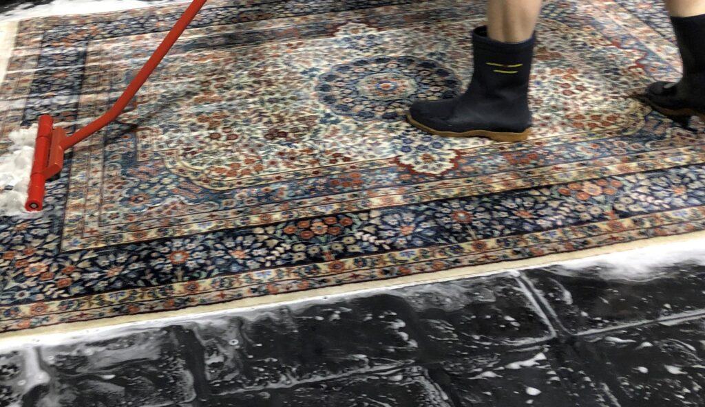 Washing oriental rug