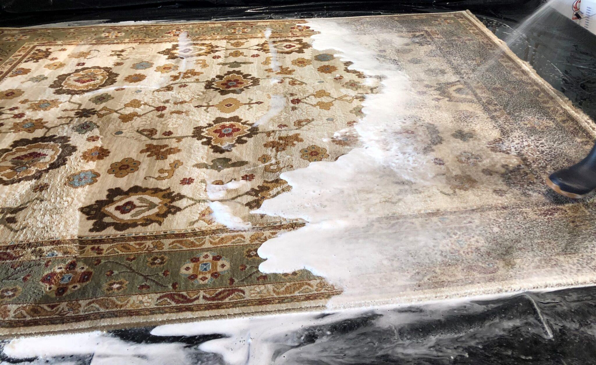 Oriental rug washing