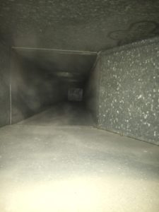 Air Duct Cleaning being cleaned