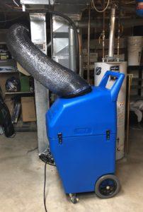 HEPA filtered negative air machine